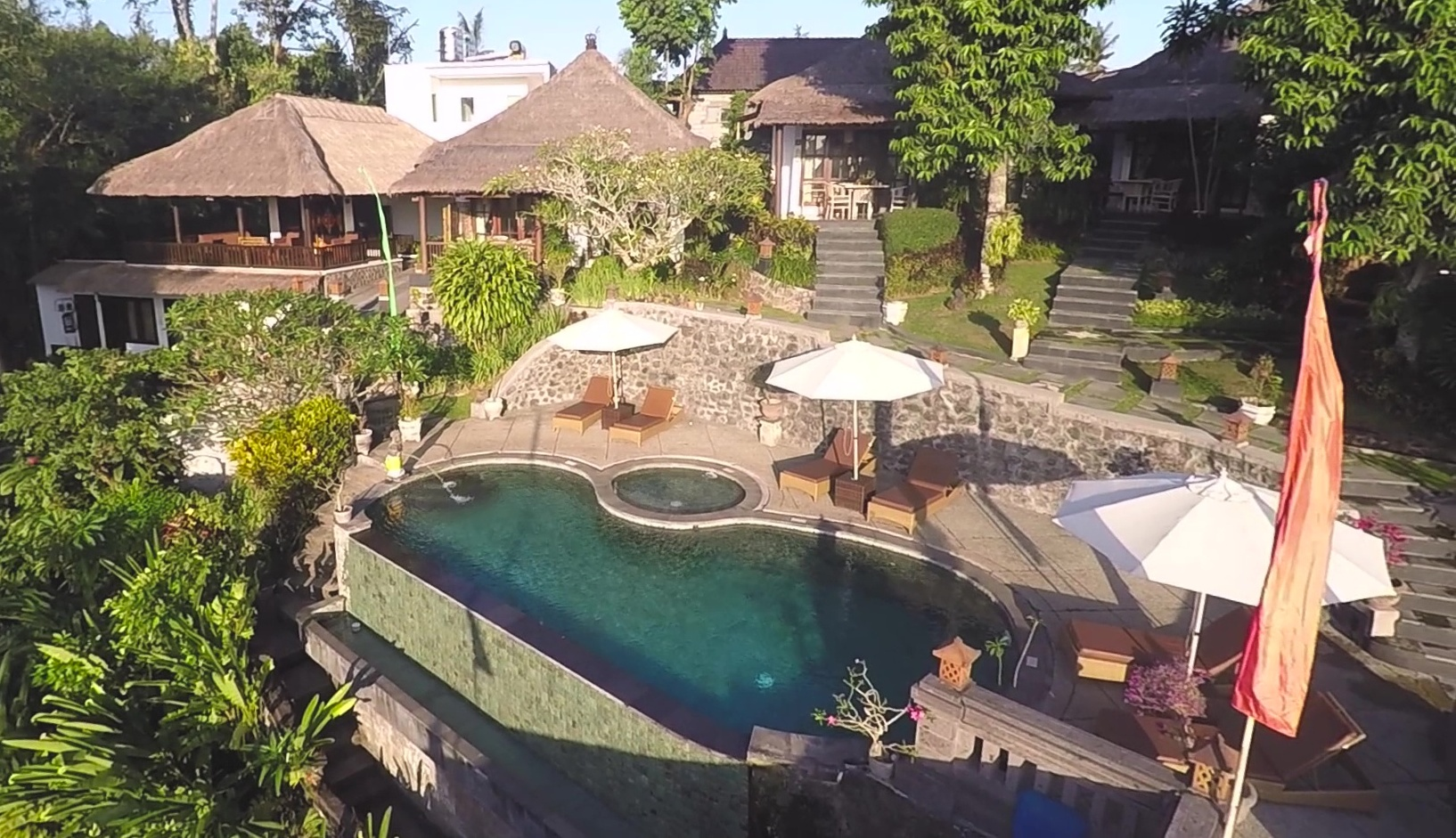 Aerial View - Pool and Villas