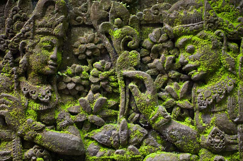 Temple wall relief